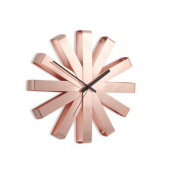UMBRA RIBBON WALL CLOCK 12IN COPPER 118070-880