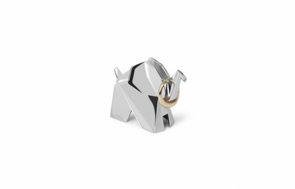 UMBRA ORIGAMI ELEPHANT RING HOLDER CHROME STOJAK 1010005-158