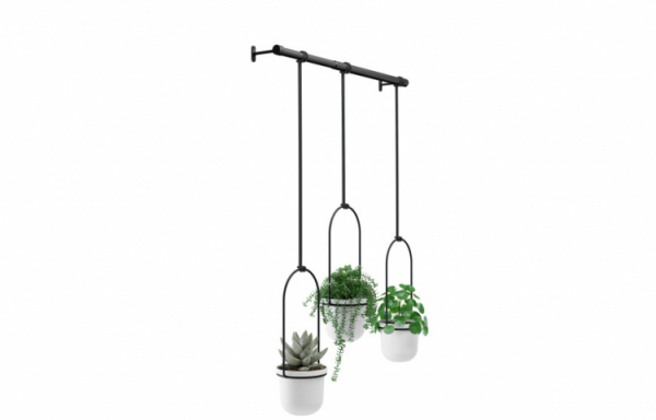 UMBRA TRIFLORA HANGING PLANTER WHITE 1011748-660